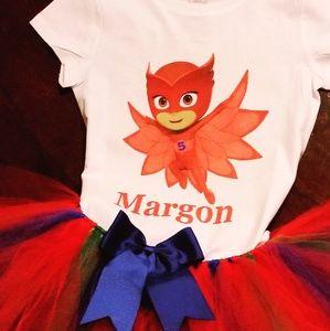 Other - PJ Mask & TuTu Birthday Set with custom name
